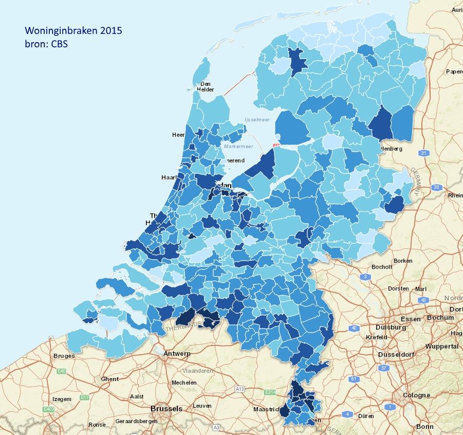 Woninginbraken Nederland 2015